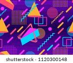 retro futurism seamless pattern.... | Shutterstock .eps vector #1120300148