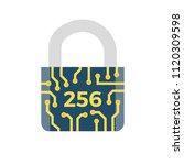 sha 256 concept flat vector... | Shutterstock .eps vector #1120309598