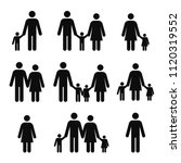 family concept icons. mother ... | Shutterstock .eps vector #1120319552