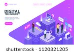 concept of digital technology.... | Shutterstock .eps vector #1120321205
