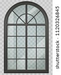 classic arched window of wood... | Shutterstock .eps vector #1120326845