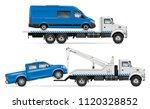realistic tow truck vector... | Shutterstock .eps vector #1120328852