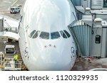 frankfurt  germany  august 16 ... | Shutterstock . vector #1120329935