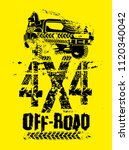 off road club logo. extreme... | Shutterstock .eps vector #1120340042