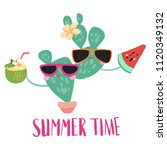 minimal beach summer trendy... | Shutterstock .eps vector #1120349132