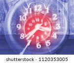 concept of time passing on a... | Shutterstock . vector #1120353005