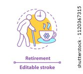retirement concept icon.... | Shutterstock .eps vector #1120367315