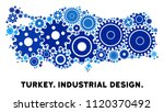 industrial turkey map collage... | Shutterstock .eps vector #1120370492