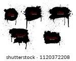 vector ink splashes or black... | Shutterstock .eps vector #1120372208