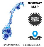 industrial norway map mosaic of ... | Shutterstock .eps vector #1120378166