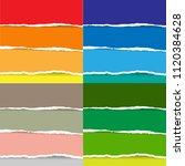 color torn paper big set ... | Shutterstock .eps vector #1120384628