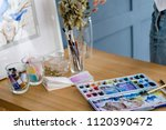 artist watercolor inks dye set. ... | Shutterstock . vector #1120390472