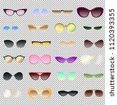 transparent and opaque eyewear... | Shutterstock .eps vector #1120393355