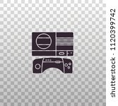 retro game console and... | Shutterstock .eps vector #1120399742