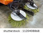 round brushes for small street... | Shutterstock . vector #1120408868