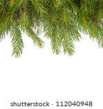 christmas green framework... | Shutterstock . vector #112040948