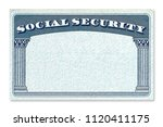 blank us social security card... | Shutterstock . vector #1120411175