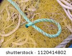 fishing net  yellow and blue | Shutterstock . vector #1120414802