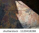 texture of rusty iron. aged... | Shutterstock . vector #1120418288