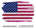 grunge american flag.vintage... | Shutterstock .eps vector #1120421525