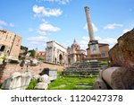 Column Of Phocas And Ruins Of...