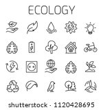 ecology related vector icon set.... | Shutterstock .eps vector #1120428695