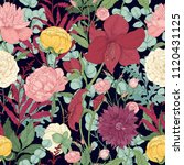 botanical seamless pattern with ... | Shutterstock .eps vector #1120431125