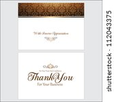thank you card | Shutterstock .eps vector #112043375