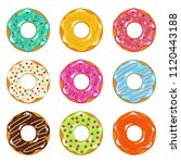 vector collection of colored... | Shutterstock .eps vector #1120443188