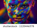 portrait of the bright... | Shutterstock . vector #1120446578
