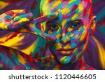 portrait of the bright... | Shutterstock . vector #1120446605