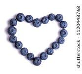 creative blueberries in the... | Shutterstock . vector #1120448768