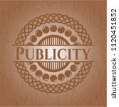 publicity retro style wooden... | Shutterstock .eps vector #1120451852