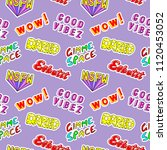 seamless pattern with comic... | Shutterstock .eps vector #1120453052