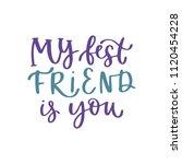 friendship and friends... | Shutterstock .eps vector #1120454228
