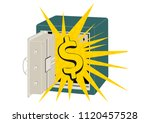 metal safe. cartoon safe with...   Shutterstock .eps vector #1120457528