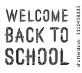 back to school. vector... | Shutterstock .eps vector #1120458335