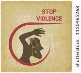 stop violence against women...   Shutterstock .eps vector #1120465268
