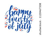 happy fourth of july  4th of... | Shutterstock .eps vector #1120467338