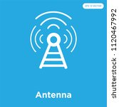 antenna vector icon isolated on ... | Shutterstock .eps vector #1120467992