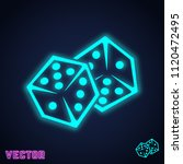 dice games icon. two game dices ... | Shutterstock .eps vector #1120472495