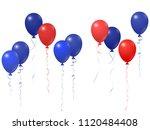 blue red balloons group... | Shutterstock .eps vector #1120484408