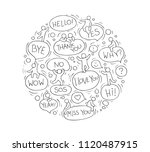 cartoon circle illustration... | Shutterstock .eps vector #1120487915