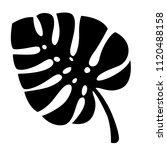 black silhouette. tropical... | Shutterstock .eps vector #1120488158