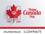 happy canada day greeting card... | Shutterstock .eps vector #1120490675