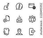 set of black vector icons ... | Shutterstock .eps vector #1120495352