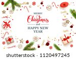 holiday christmas backdrop | Shutterstock .eps vector #1120497245