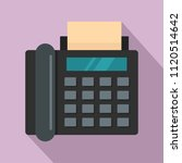 black fax icon. flat... | Shutterstock .eps vector #1120514642