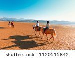 group of people walking on... | Shutterstock . vector #1120515842