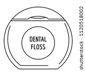 box floss icon. outline... | Shutterstock .eps vector #1120518002
